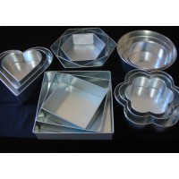 Sale !! Mark down prices !! - Hexagon, Square, Round, Petal and Heart Cake Tins
