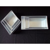 SALE !! Mark Down- 3 Tier Diamond and Rectangle Cake Tins