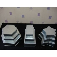 SALE- 3 Tier Star, Hexagon and Rectangle Cake Tins