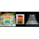"Square Cake baking tins Rainbow Multi Layer - 1.5 "" Deep - 10 "" x 10"" Shallow Tins"