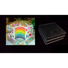 "Square Cake baking tins Rainbow Multi Layer - 1.5 "" Deep - 8"" x 8"" Shallow Tins"