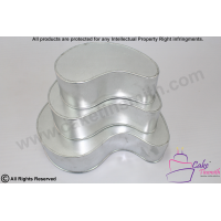Tear Drop Cake Tins - 3 Tier - Round Tip