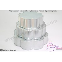 3 Tier Petal / Flower Shape Cake Tins - 6 Petal