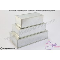 3 Tier- Rectangle Cake Baking Tins - 3 Inch Deep