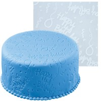 Impression Fondant Mat - Happy Birthday