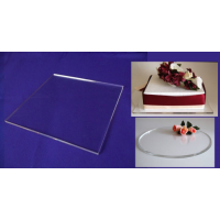 Square Crystal Cake Boards/Cake Drums - 6""