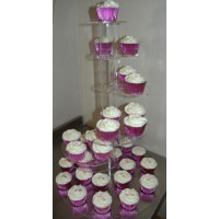 Crystal Cup Cake Stands - Heart Shape - 6 Tier