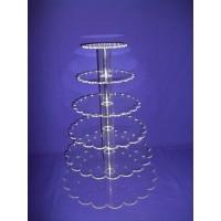 Crystal Cup Cake Stands - 5 Tier Petal