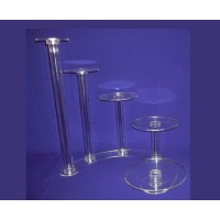 Crystal Cake Stands - 5 Tiers ( Hollow Tube)