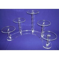 Royal Crystal Cake Stands - 5 Tiers ( Twirl Effect Solid Pillar)