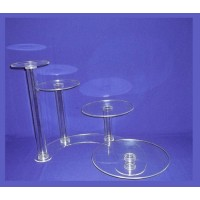 Crystal Cake Stands - 4 Tiers ( Hollow Tube)