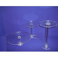 Crystal Cake Stands - 3 Tiers ( Hollow Tube)