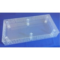 Rectangle Shape Crystal Chandeliar Bases for Stackable Cakes