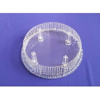 Round Shape Crystal Chandeliar Bases for Stackable Cakes