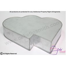 Double Heart Cake Baking Tins - 3 inch Deep