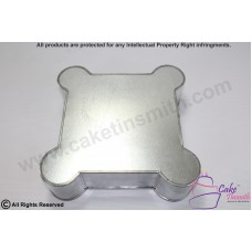 3 Inch Deep - Novelty Baking Tins - Castle Base Tin Square