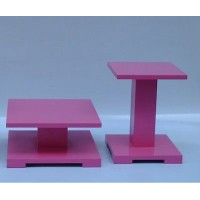 New Design - Pink Color - In Wood Cake and Cupcake Stands