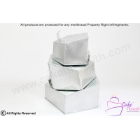 3 Tiers Pentagon Shape Topsy Turvy Cake Tins - 5 Sided