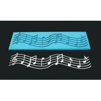 Single Lace Mat For Cake - Design Musical Note