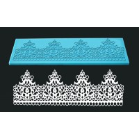 Single Lace Mat For Cake Decoration - Design Crown
