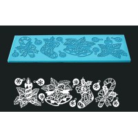 Single Lace Mat For Cake - Design Christmas Jingles