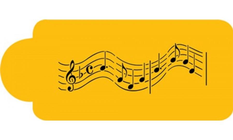 Musical Note Design Stencil For Cake Amp Cupcake