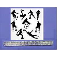 Football Pattern - Impression Rolling Pin