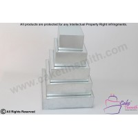 "Square Cake Baking Tin - 4 Tier Square Cake Tins - 4"" Deep"