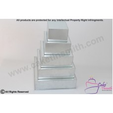 "Square Cake Baking Tin - 5 Tier Square Cake Tins - 3"" Deep"