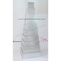 "Square Cake Baking Tin - 10 Tier Square Cake Tins - 4"" Deep"