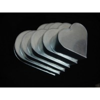 "Heart Cake tins - 3"" Depth - 4 Tier"