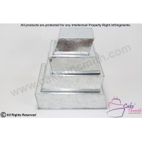 New - Side Wonky/Topsy Turvy Square Cake Tins 3 tier