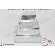 New - Side Wonky/Topsy Turvy Square Cake Tins 4 tier