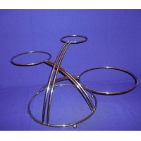 3 Tier Wedding And Valentine Cake Stand - 2013 New Design - Silver