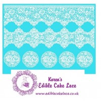 Cake Lace Mat For Cake Decoration  - Victorian Rose Cake Lace Mat