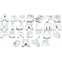 New- Individual Alphabets Cake Baking Tins A- Z