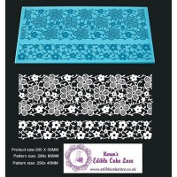 Cake Lace Mat For Cake Decoration - Daisy Wine - 3D HD  Lace Mat
