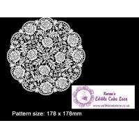 Cake Lace Mat For Cake Decoration  - 3D HD Victoriana Floral Doily Cake Lace Mats