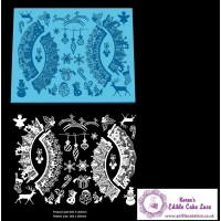 Cake Lace Mat for Cup Cake Decoration - 3D Christmas Carols Edible Cupcake Wrapper