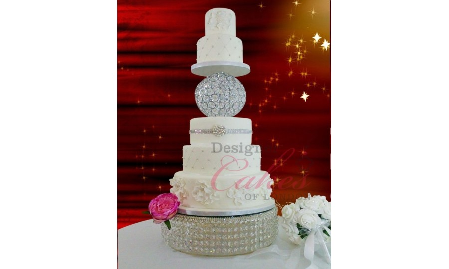 Crystal Chandelier Ball Cake Stands And Separator 10cm
