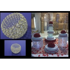 Crystal Chandelier Ball Cake Stands and Separator  - 10cm Top wide - 20 cm Bottom wide - 20 cm Height