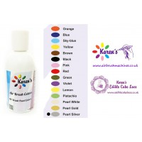 Air Brush - Silver Pearl - Cake Decorating Edible Colors Paints by Karen's - 190 ML / 6.43 OZ