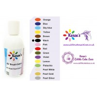 Air Brush - Black - Cake Decorating Edible Colors Paints by Karen's - 190 ML / 6.43 OZ