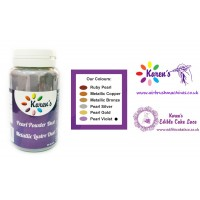 Violet Metallic Pearl Lustre Dust Petal Dust for Cake Decorating - 25 Grams