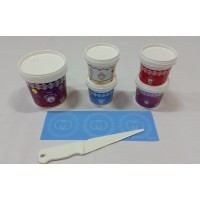 Cake Lace Starter Kit 18  ( Cake Lace Mix or Premix + Spreading Knife + Cake Lace Mats)