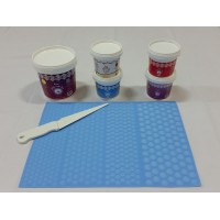 Cake Lace Starter Kit 27  ( Cake Lace Mix or Premix + Spreading Knife + Cake Lace Mats)