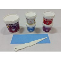 Cake Lace Starter Kit 32 ( Cake Lace Mix or Premix + Spreading Knife + Cake Lace Mats)