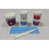 Cake Lace Starter Kit 34 ( Cake Lace Mix or Premix + Spreading Knife + Cake Lace Mats)
