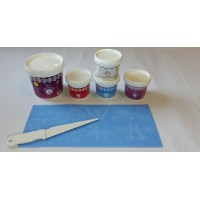 Cake Lace Starter Kit 4 ( Cake Lace Mix or Premix + Spreading Knife + Cake Lace Mats)
