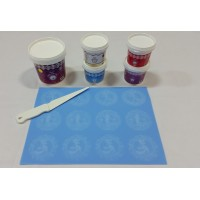 Cake Lace Starter Kit 9 ( Cake Lace Mix or Premix + Spreading Knife + Cake Lace Mats)